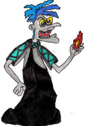 Doofenshmirtz as Hades by sideshowbobfanatic