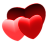 Red Hearts- Free to use by Undead-Academy