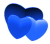 Blue Hearts - Free to use