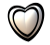 Black And White Heart Emote- Free To Use