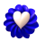 Blue Flower Heart - Free to use