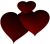 Deep Red Hearts - Free To Use