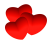 3 Red Hearts- Free To Use by Undead-Academy