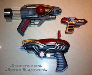 Retro blaster pistol rayguns by GirlyGamerAU