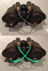 Steampunk Binoculars with plasma powered oomph by GirlyGamerAU