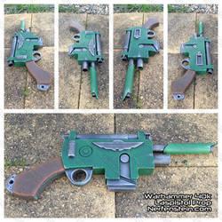 Warhammer 40K Laspistol mdf prop gun build by GirlyGamerAU