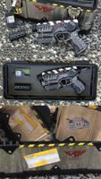 SyFy Defiance Infector pistol Nerf gun mod by GirlyGamerAU