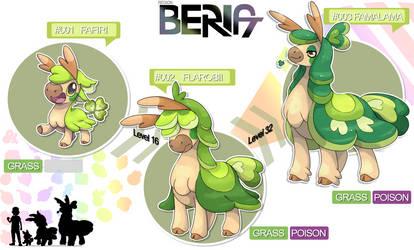 Fakemon Region BERIA - Grass type starter by MiceAlbinoska