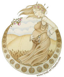 Earthen Mother Watercolour by well-of-dreams