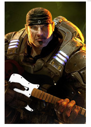Marcus Fenix with Guitar Hero by signap