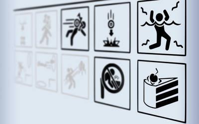 Portal Wallpaper - WARNiNG by signap