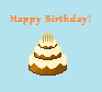 Birthday cake pixel by Rinkagamine1999