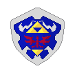 Hylian shield pixel by Rinkagamine1999