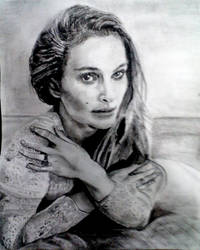 Natalie Portman drawing done over night by Holo-superposition