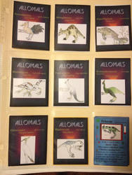 Allomal trading cards by Allomals