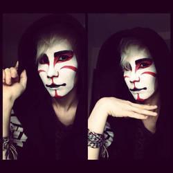 Kabuki inspired make up testing by RaviTheBlueTiger
