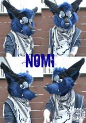 Commission fursuit head - Nomi by RaviTheBlueTiger