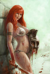 Red Sonja by Yneddt