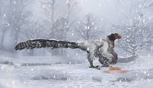 Winter Hunter Dakotaraptor by GalaxyMew