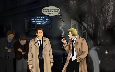 Constantine Meets Castiel by constantron