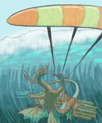 Kitesurfing by The-fox-of-wonders