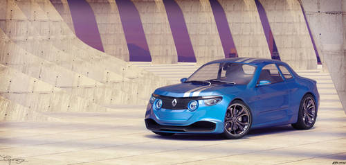 Renault 8 Gordini - concept V1 - 7 by cipriany