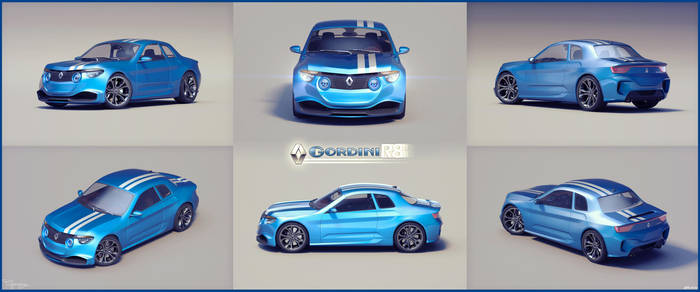 Renault 8 Gordini - concept V1 - 15 by cipriany