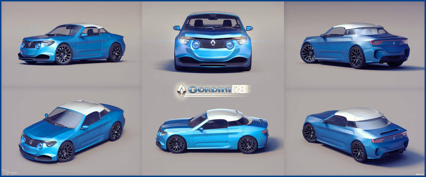 Renault 8 Gordini - concept V2 - 10 by cipriany