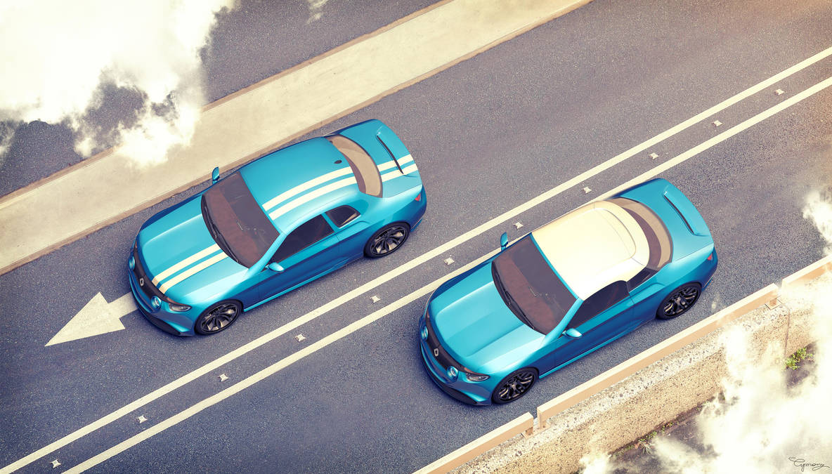 Renault 8 Gordini - concept V1 and V2 - 1 by cipriany
