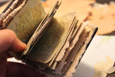 miniature book - travel journal/with maps.inside by izibel1