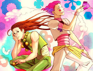 Hisoka and Illumi by queenvera