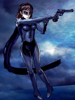 Makoto with Gun by queenvera