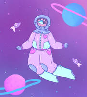 A Fun Space Gal by SeehaTheCat