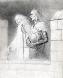 On the walls of Minas-Tirith by meneldil-elda