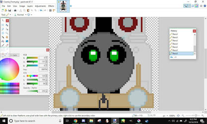 WIP - Vector the Robot Engine -  Front View Sprite by Galaxy-Of-Star