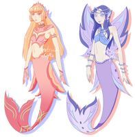 Mermaid Adopts [ 2/2 OPEN ] by OstrichAdopts