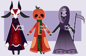 Halloween Mocchin Adopts [ CLOSED ] by OstrichAdopts
