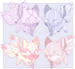 Pastel Fox Adopts [ 1/4 OPEN ] by OstrichAdopts