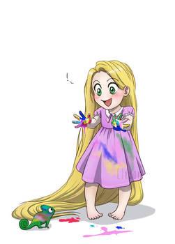 Baby Disney - Rapunzel by IreneMartini