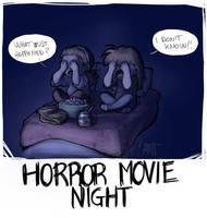 Horror movie night by IreneMartini