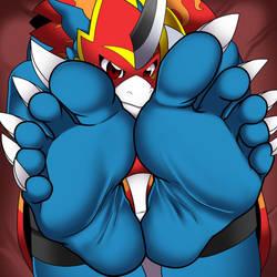 Flamedramon's Feet by darkshiner8