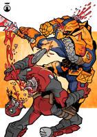 Deadpool vs Deathstroke by IrfaanSepetz