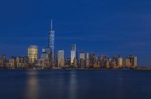 Lower Manhattan at Dusk by A1k3misT