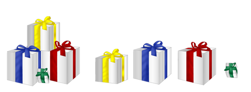 XMas decorations - Gift boxes by aciampal