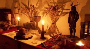 Lughnasadh Altar by Druidstone