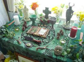Beltane Altar 2011 by Druidstone