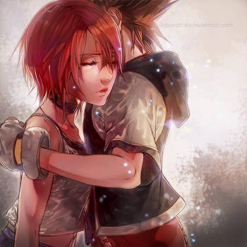 Sora and Kairi by ilaBarattolo