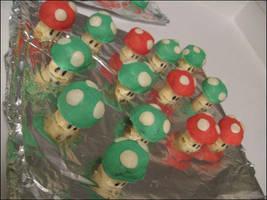 -Super Mario Mushroom Cookies- by ThePockyNinjaBakery