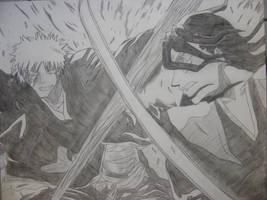 Ichigo VS Byakuya by AnimeDaydream