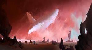 White humpback whale by RuxingGao